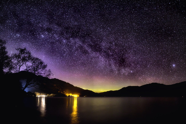 Loch Lomond Aurora & Milky Way