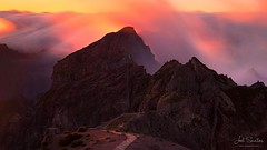 On the day it was supposed to snow, a burning sky with high velocity clouds casted a magical light over Pico do Arieiro, Madeira island, Portugal. © Joel Santos - www.joelsantos.net