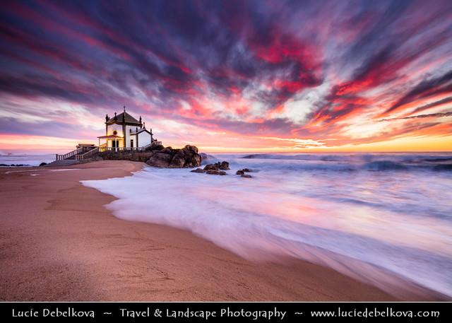 Portugal - Porto - Capela do Senhor da Pedra at Sunset