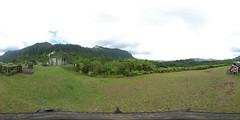 From the Kilonani Mauka Overlook at the Ho'omaluhia Botanical Garden in Kaneohe, Hawaii - a 360° equirectangular VR