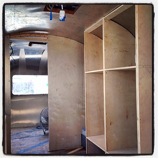 At Hofman Architecture @hofarc in Santa Barbara, where they rebuild Airstreams from the skin in. Amazing work. #airstream #airstreamdc2cali