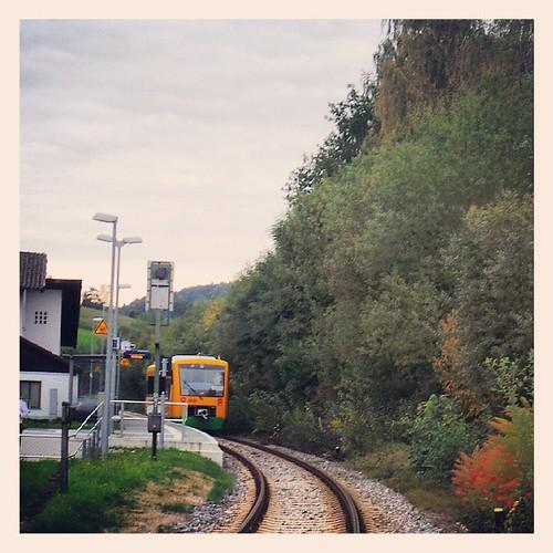 At the #train stop in #Chamerau  #Bavaria #Germany