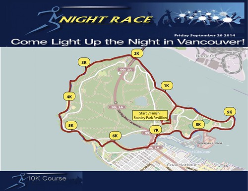 Night Race 2014 so-called 10 km route