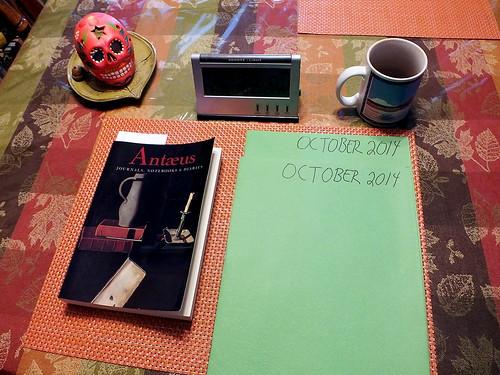 October 2014 Diary
