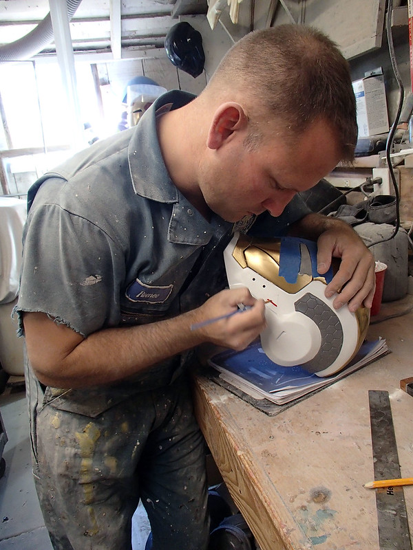 Painting Triangles on the Gemini Helmet