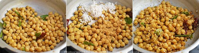 How to make chana masala sundal - Step3