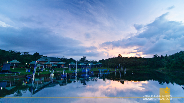 Sunset at Mountain Lake Resort in Caliraya Springs