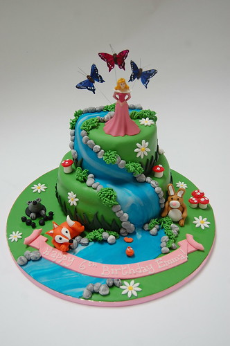 Sleeping Beauty Aurora Cake
