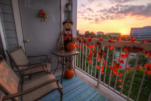 city november autumn decorations sunset red sky orange cloud sun color building fall colors leaves yellow set clouds buildings pumpkin photography photo dc leaf high md october dynamic pumpkins scarecrow decoration rick maryland september photograph porch crow scare range hdr highdynamicrange sause ricksausephotography
