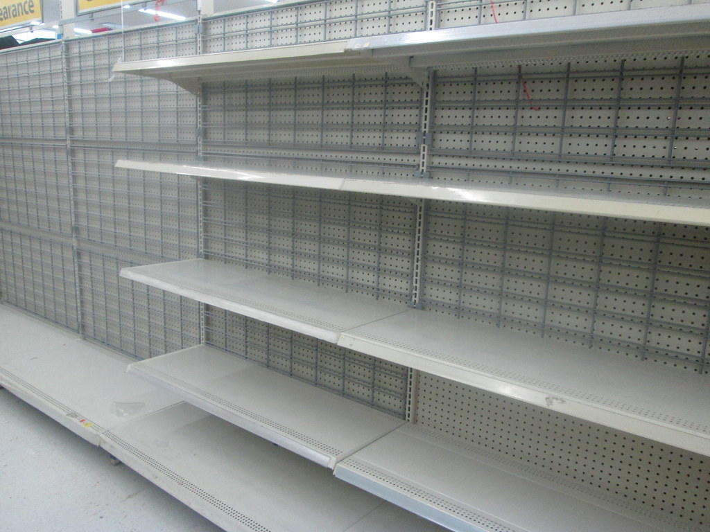 Empty Shelves at Walmart