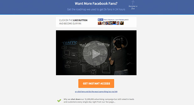 The Best Facebook Landing Page