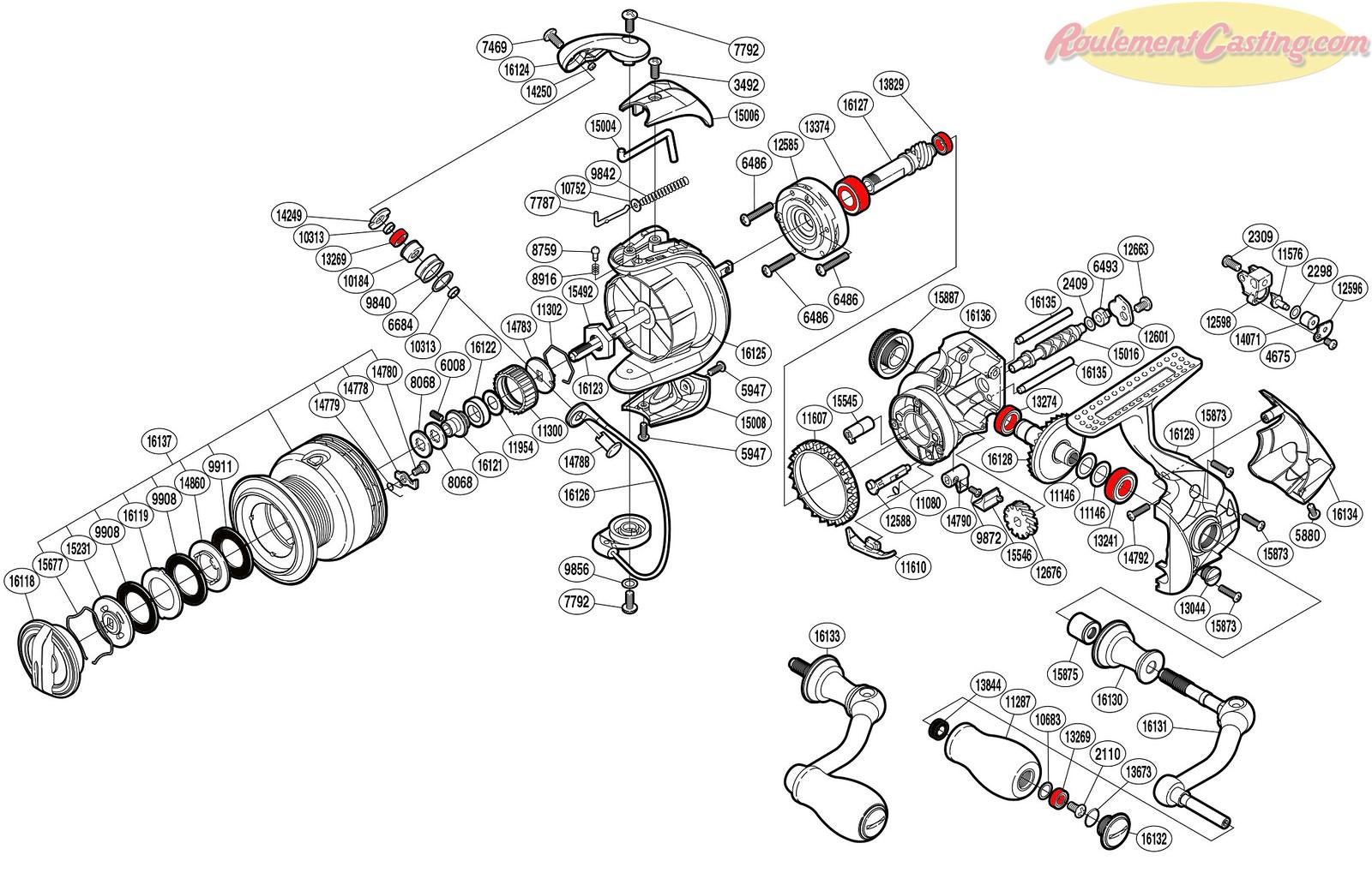 Schéma Shimano 14'StradicCI4plus3000FA