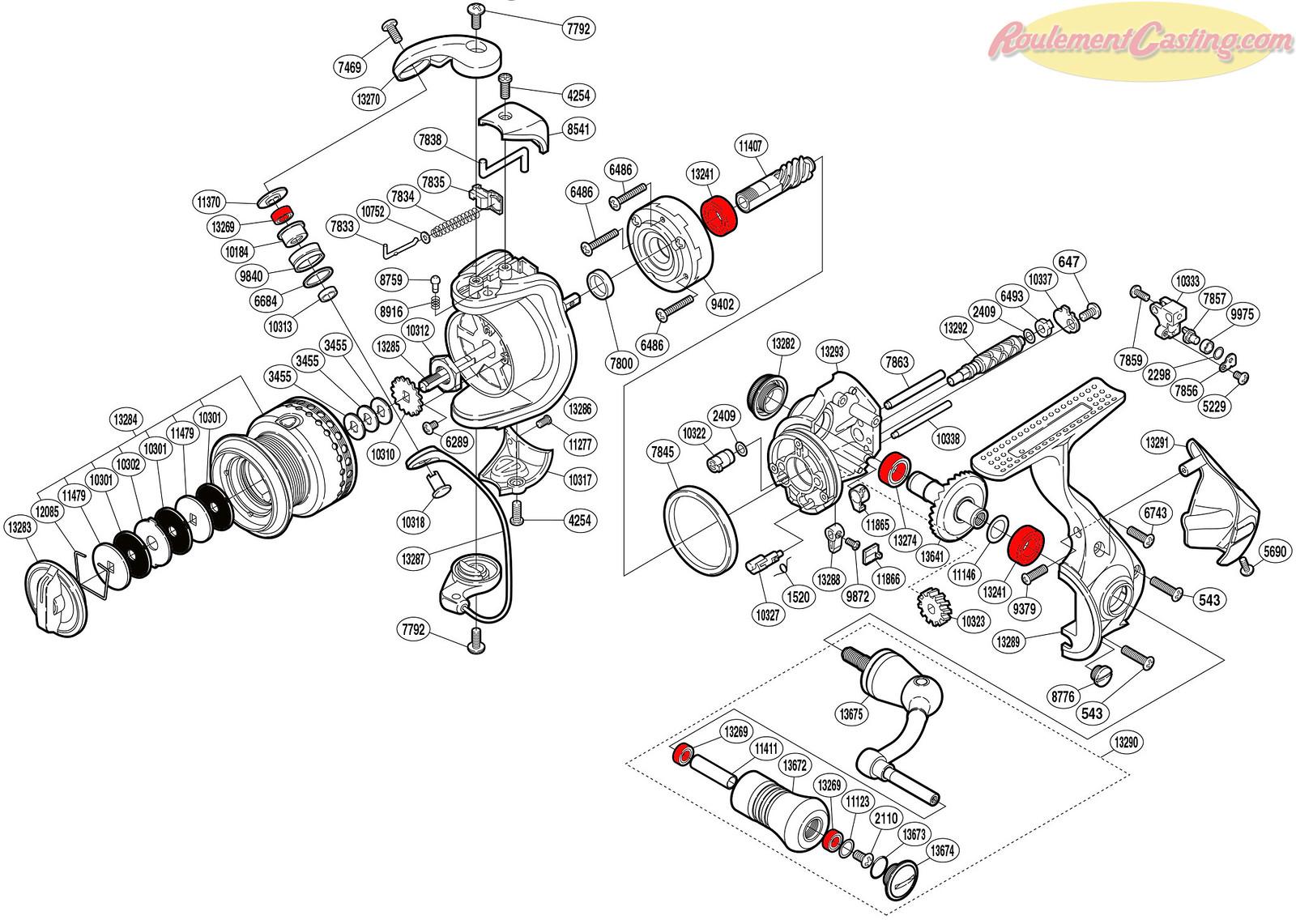 Schéma Shimano 10Stradic CI41000F