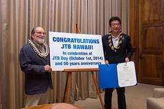 JTB Hawaii 50th Anniversary Proclamation Ceremony