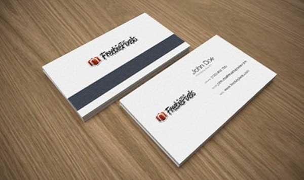 Free Vintage business card PSD (front & back)