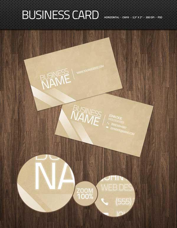 Clean Business Card PSD