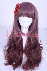 Charm Zipper Lolita Mix Brown Wig 60cm