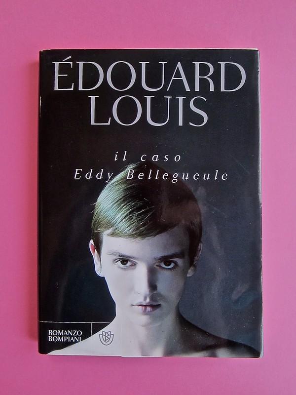Édouard Louis, Il caso Eddy Bellegueule. Bompiani 2014. Progetto grafico: Polystudio; Imm. alla cop.: ©Hans Neleman/Corbis; fotog. dell'autore: John Foley/Seuil. Prima di sovracop. (part.), 1