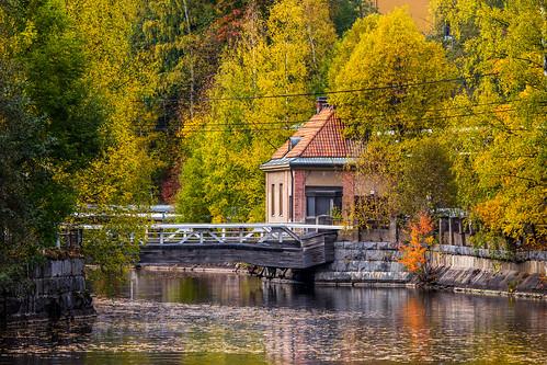 bridge autumn fall canon river landscape eos nokia is stream colours l birch usm colourful rapid ef f4 70200mm 60d