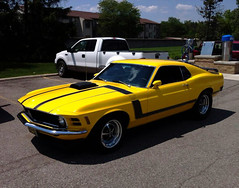 automobile, automotive exterior, boss 302 mustang, vehicle, ford mustang mach 1, ford, classic car, land vehicle, muscle car, sports car,