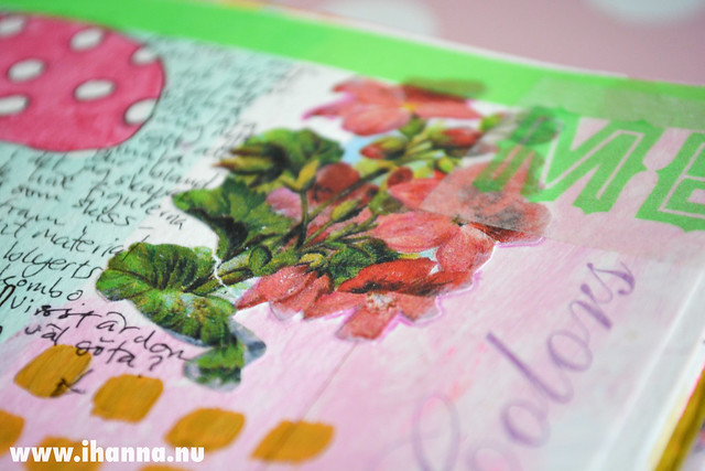 Art Journal Detail: Geranium color, by iHanna of www.ihanna.nu