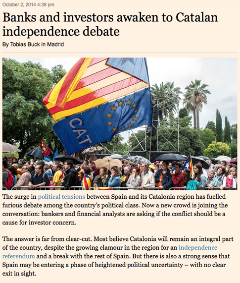 14j02 FTimes advierte que la crisis España Cataluña despiertas dudas e incertidumbre