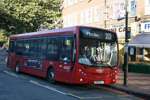 Abellio London 8525 on Route 201, Morden Station