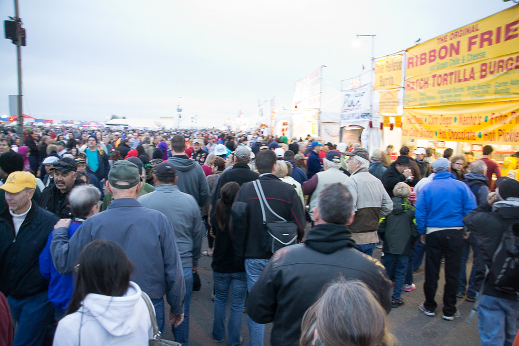 Crowds at Balloon Fiesta Park After Cancelled Mass Ascension