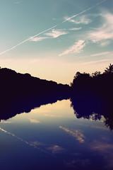 Huron River sunset