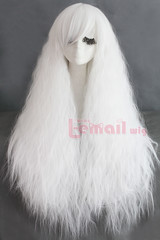 80cm long Rhapsody white curly wave cosplay hair wig ZY61