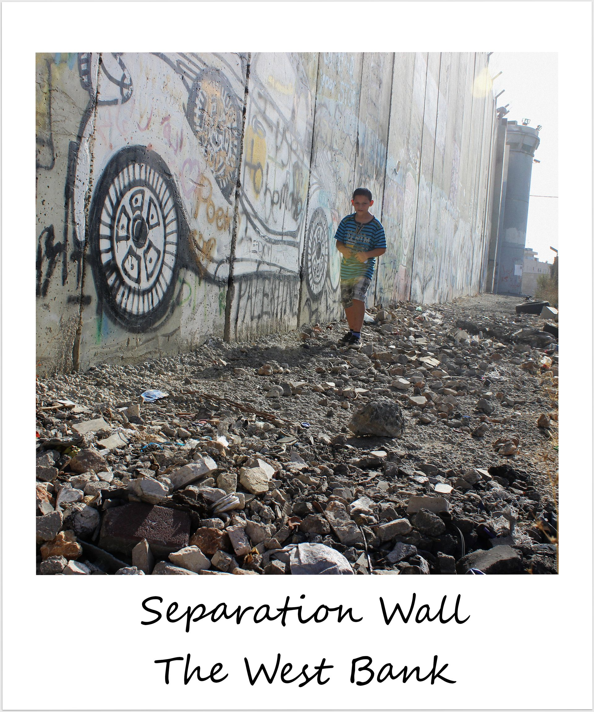polaroid of the week israel west bank separation wall