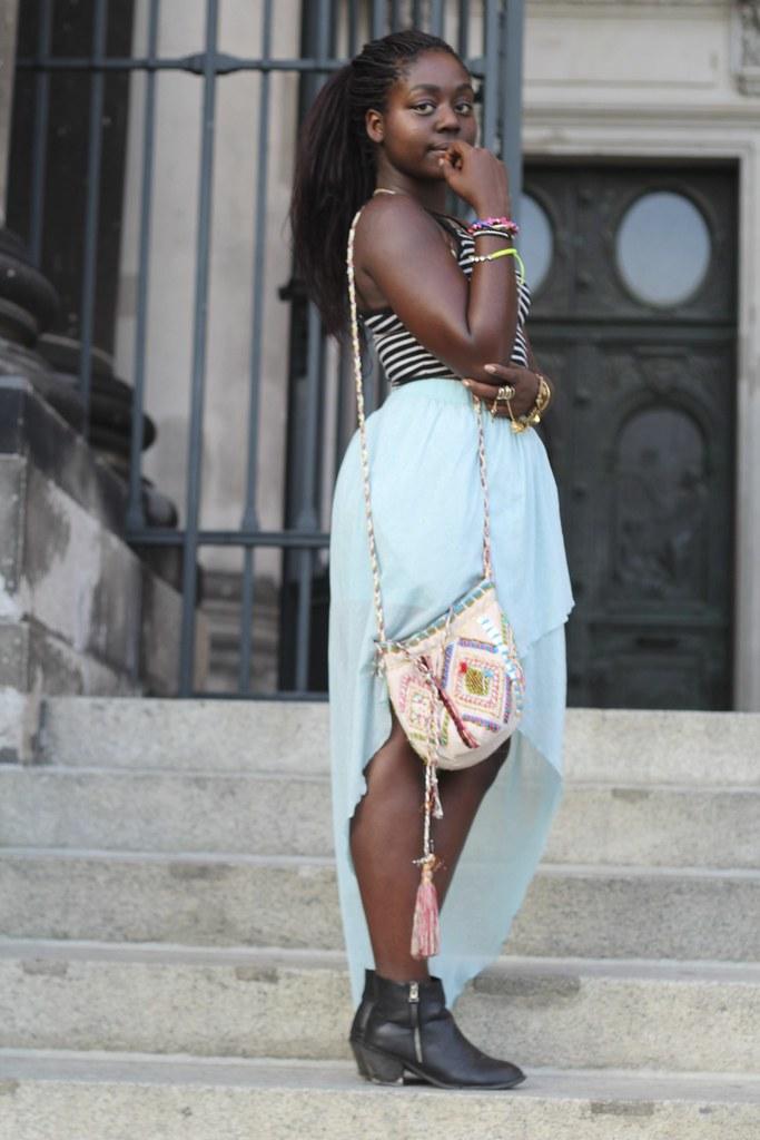 Lois Opoku waterfall skirt streetstyle lisforlois