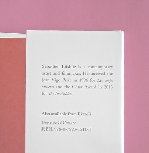 Sebastien Lifshitz, The Invisibles. Rizzoli International Publications 2014. Design: Isabelle Chemin. risvolto della quarta di sovracoperta (part.), 1