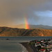 Rainbow over Seatoun, Wellinton by Richard de Groen