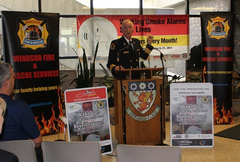 Chief Montone - Fire Prevention Kick-Off - St. Clair College