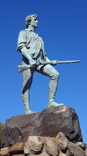 Minute man statue in Lexington, Mass.