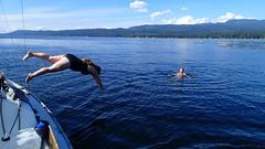 Swimming near Powell River