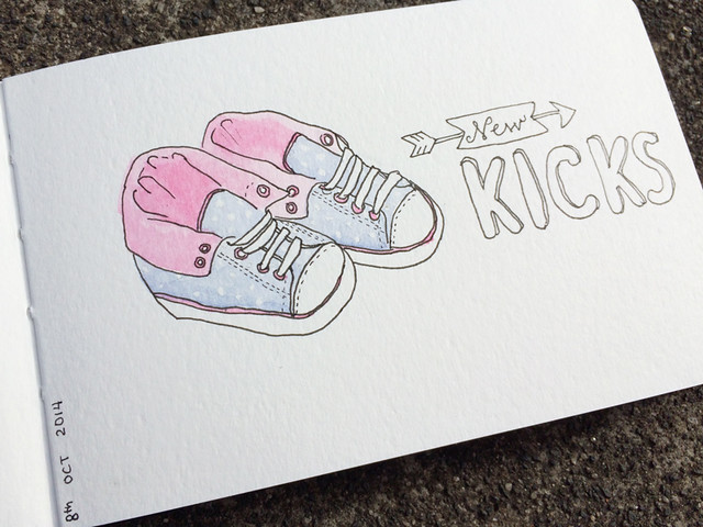 Sketch a day - New Kicks picture