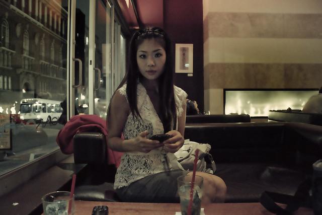 at a bar in the tenderloin.  San Francisco (2010)