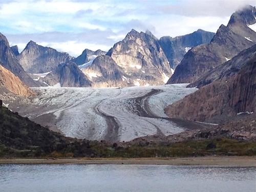 Greenland Prince Christian Sound glacier