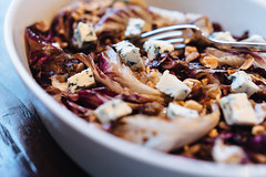 Grilled radicchio, hazelnuts and Blue de Laqueuill…
