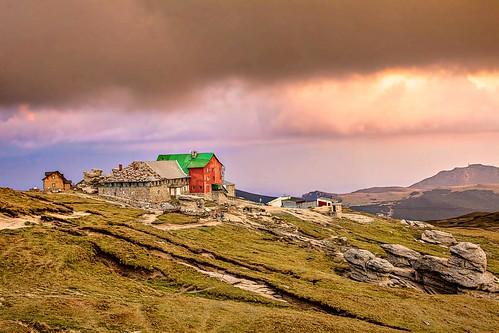 sunset mountains clouds cloudy overcast romania chalet babele bucegi southerncarpathians