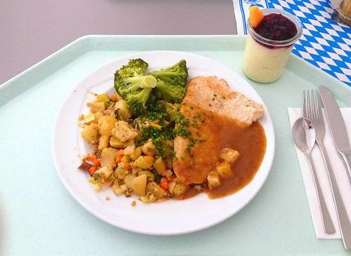 Gegrilltes Putensteak mit Broccoliröschen / Grilled turkey filet with broccoli