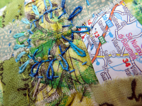 Childhood Summer ~ text on textiles ~ detail