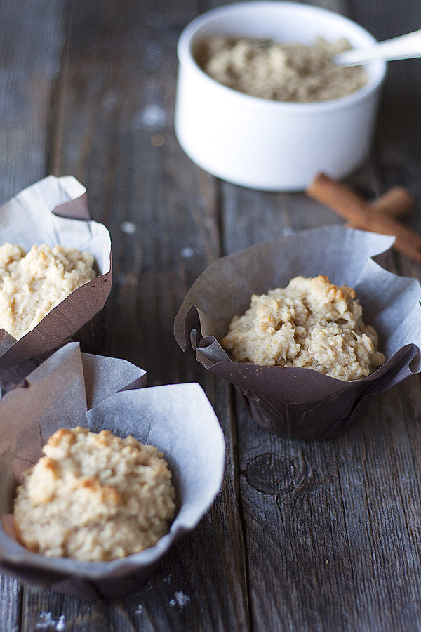 brown sugar and cinnamon oatmeal muffins