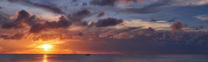 Boat and Sunset - Belize