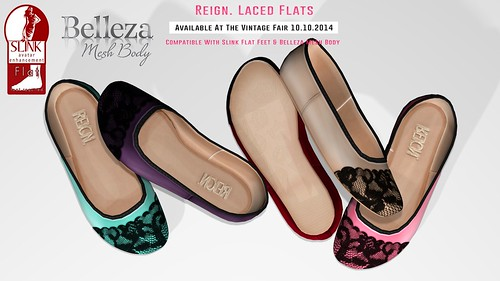 REIGN.- Laced Flats