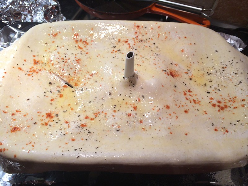 Chicken and Mushroom Pie : Egg wash and season