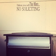 "Best ""No solicitors"" sign ever!"