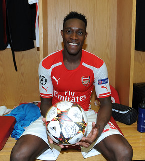 Danny Welbeck with the match ball